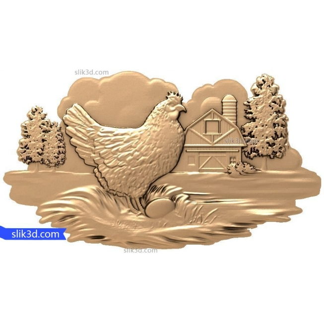 "Bas-relief ""chicken"" 